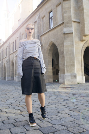 romwe sweater - romwe skirt
