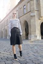 romwe sweater - romwe skirt
