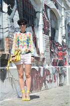 New Yorker bag - H&M shoes - Zara jacket - Zara shorts