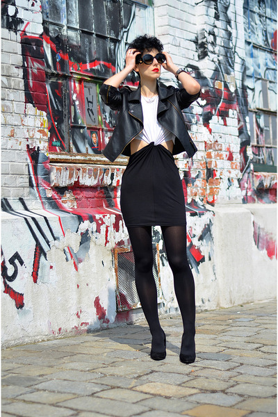 AX Paris dress - Sheinside jacket - zeroUV sunglasses