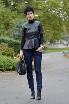 wwwoasapcom blouse - H&M boots - H&M jeans - wwwnowistylejp bag
