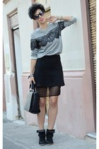 Zara sweater - Zara bag - asos skirt