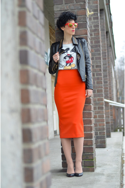H&M sweater - Choies jacket - H&M Trend skirt