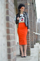 H&M sweater - Choies jacket - H&M Trend skirt