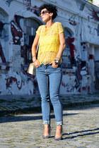 wwwchicnovacom blouse - Bershka shoes - H&M Trend jeans - wwwoasapcom bag