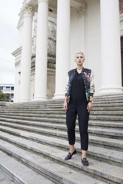zaful jacket - Topshop shoes - Zara pants