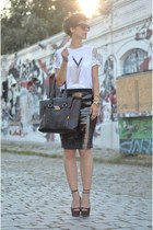 H&M Trend shirt - Zara shoes - wwwvj-stylecom bag - wwwoasapcom sunglasses
