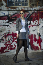 Sheinside skirt - JollyChic coat - zeroUV sunglasses