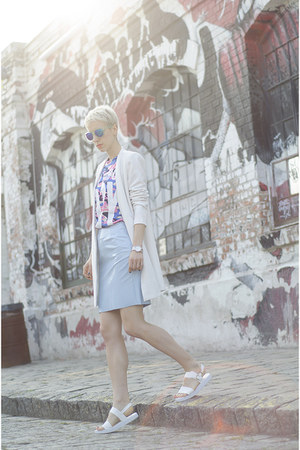 OASAP shirt - Sheinside coat - zeroUV sunglasses