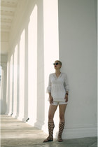 asos shorts - romwe blouse