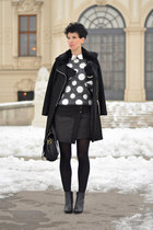 H&M boots - Sheinside coat - H&M Trend sweater - Zara skirt