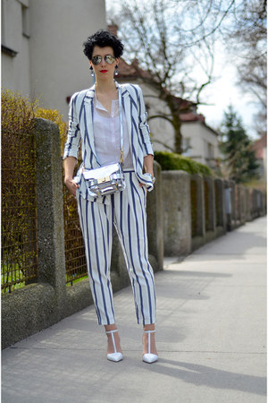 Zara shoes - Zara blazer - Zara bag - AHAISHOPPING blouse - Zara pants