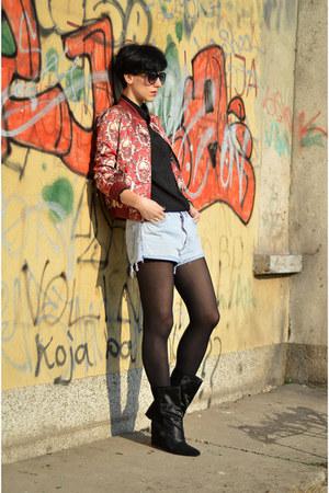 wwwchoiescom jacket - Isabel Marant boots - Levis shorts