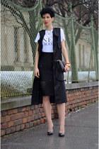 H&M shirt - Martofchina bag - H&M Trend skirt - H&M Trend vest