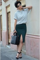 Zara shoes - Zara bag - H&M Trend skirt - H&M Trend sweatshirt