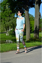 Forever21 shoes - zeroUV sunglasses - Zara pants