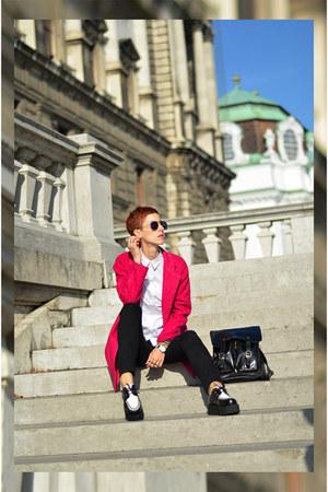 Sheinside coat - Chicwish shoes - OASAP bag - zeroUV sunglasses