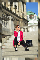 Sheinside coat - Chicwish shoes - OASAP bag - zeroUV sunglasses