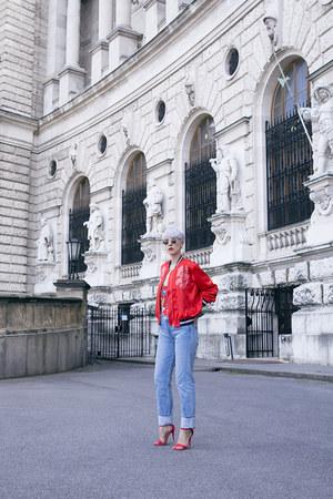 H&M Trend jacket - Levis jeans - H&M bodysuit