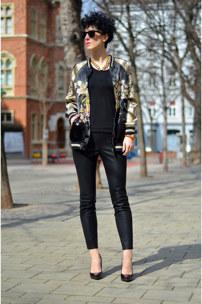 Zara jacket - zeroUV sunglasses - Zara pants