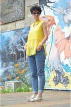 H&M Trend jeans - Zara shoes - wwwoasapcom bag - wwwoasapcom sunglasses