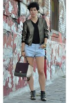 wwwchoiescom boots - H&M Trend jacket - wwwoasapcom bag - Levis shorts