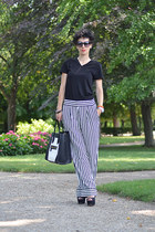 H&M Trend pants - Zara shoes - wwwvj-stylecom bag - wwwoasapcom sunglasses