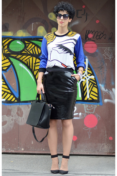 wwwchoiescom blouse - Zara shoes - Zara bag - wwwoasapcom sunglasses - H&M skirt