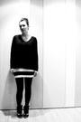 Black-h-m-jumper-white-black-and-white-h-m-skirt