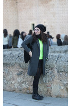 Zara coat - fluor jumper - skirt