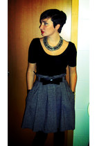 gray BLANCO skirt - BLANCO bodysuit