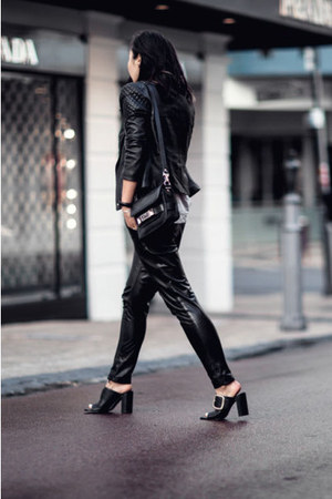 black Zaliah jacket - black PROENZA SCHOULER bag - black Casey Tanswell pants