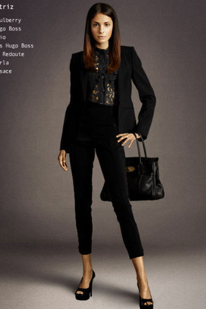 black encajes Primark blouse - black Zara blazer - black Zara pants