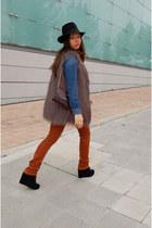 H&M shirt - vintage hat - vintage bag - Jeffrey Campbell wedges - H&M pants
