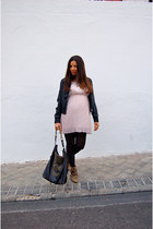 Little Missy dress - Zara boots - Stradivarius jacket - Oysho tights