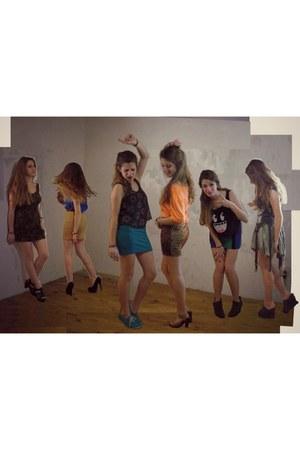 Forever21 skirt - Forever21 skirt - Complot dress - H&M blouse - Febo heels