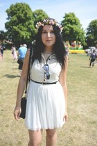 white Primark dress