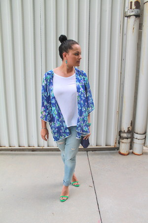 H&M jeans - Forever 21 cardigan - Zara heels