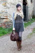 brown Just B vest - dark brown Jessica Simpson boots