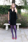 Magenta-colcci-shoes-black-corin-dress-black-fur-gerald-darel-vest