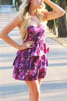 amethyst cotton Urban Outfitters dress - bubble gum satin Nordstrom wedges