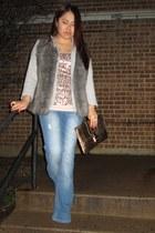 Marshalls jeans - Lush blazer - Victorias Secret vest - asos top