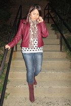Tulle jacket - banana republic boots - Marshalls jeans