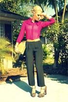 Forever 21 heels - camel snakeskin thrifted vintage bag