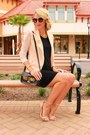 Neutral-chicwish-blazer-black-cat-eye-prada-sunglasses-neutral-zara-heels