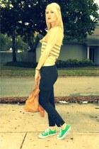 camel vintage Givenchy shirt - tawny hamilton Michael Kors bag - black Forever21