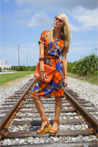 carrot orange vintage dress - tawny vivians ASH wedges