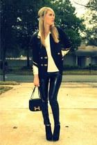 black vintage Lillie Rubin blazer - black Forever 21 boots