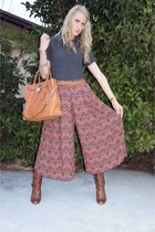 palazzo vintage pants - leather gianni bini boots