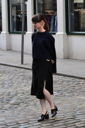 navy Murua jumper - black Mango skirt - black Topshop heels